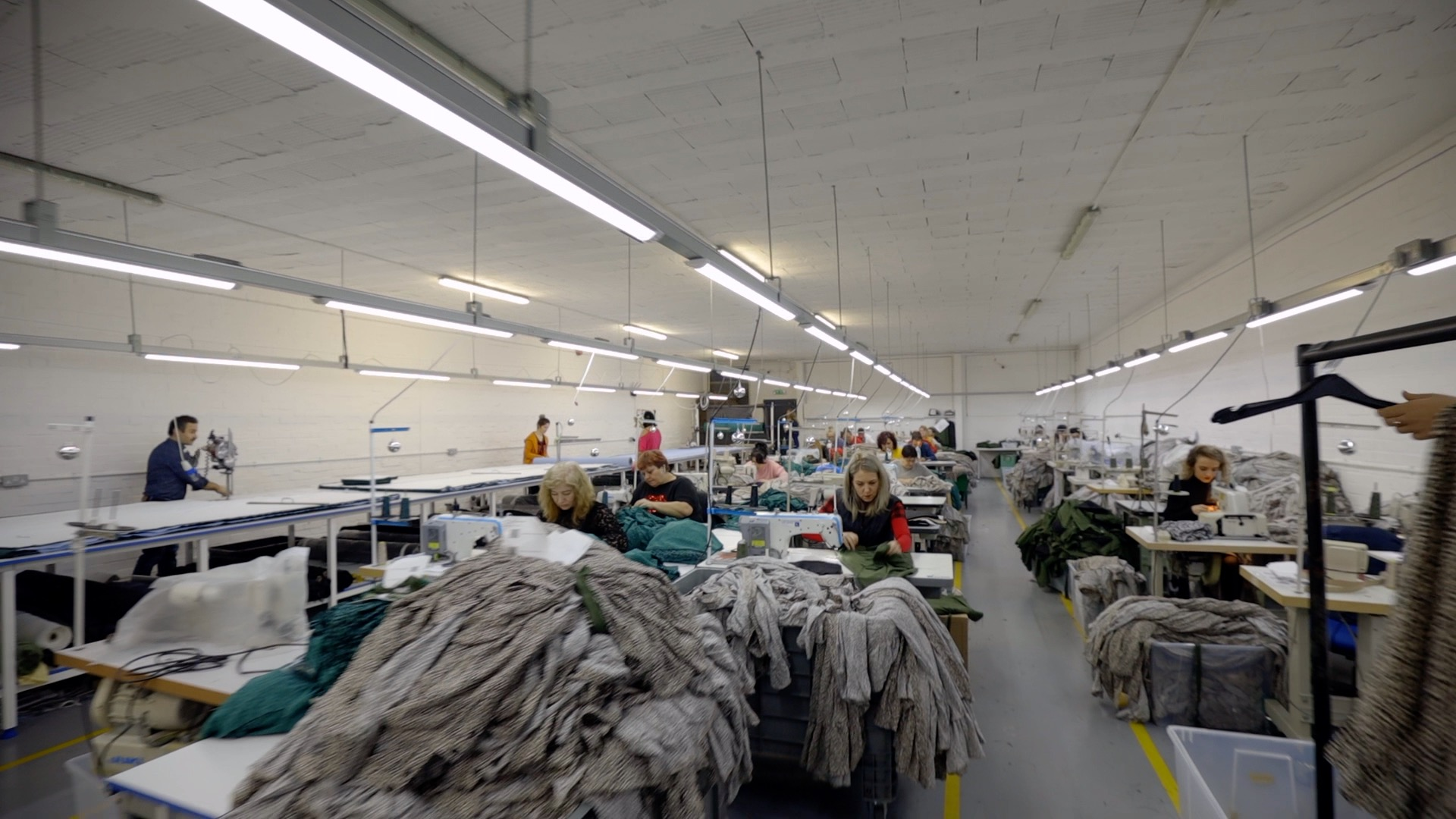 People working in our UK factory and manufacturing hub